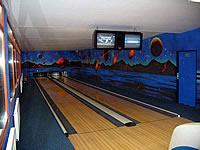 Bowling Plechová, Myslíkova 123, Pacov – 2 dráhy UV, bezšňůrová technologie QubicaAMF, scoring QubicaAMF s řídícím PC, rok výstavby 2006
